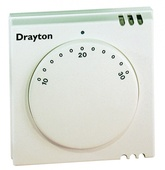 "Drayton RTS2 Room Thermostat 240V  With LED ""on"" Light 24002"