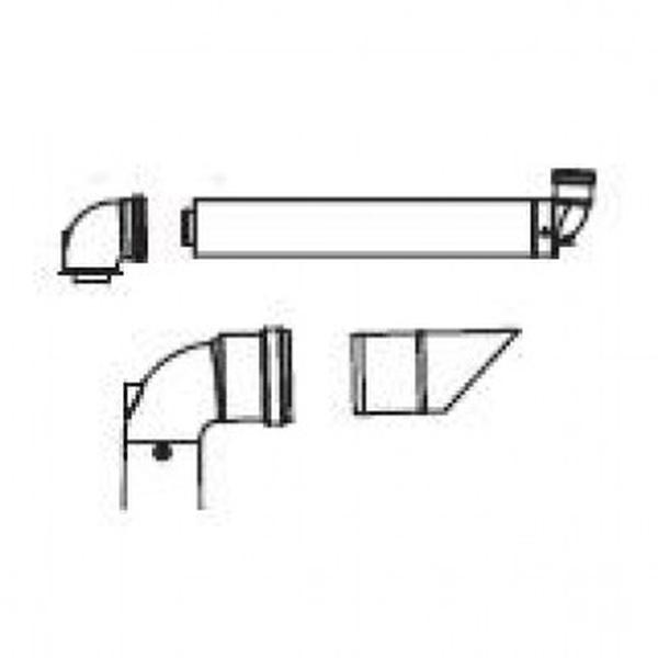 ideal logic high level flue outlet kit  204912