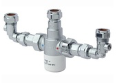 Bristan 15mm TMV3 Thermostatic Mixing Valve With Isolation Elbows MT503CP-ISOELB