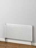 MHS Rads 2 Rails Battersea Double Panel Horizontal Textured Grey Radiator 404x1400mm
