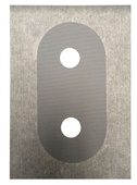 Abacus Double Collar Sleeve Hole: 23mmX2 Waterproof 200mm x 140mm EMTM-75-1005
