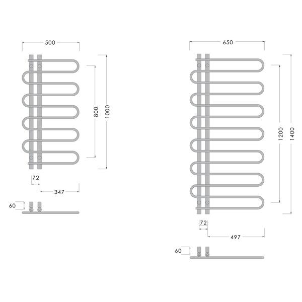 abacus direct elegance lazo towel warmer 1400 x 650 chrome