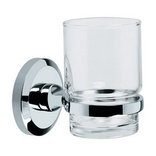 Bristan Solo Glass Tumbler & Holder SO HOLD C