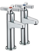 Bristan Design Utility X- Head High Neck Pillar Taps DUX HNK C