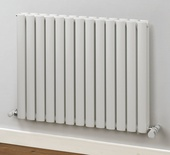 MHS Rads 2 Rails Finsbury Single Panel Vertical Horizontal White Radiator 600x600mm FIVHSWH-60-600