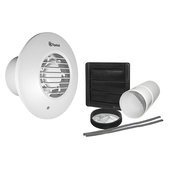 """Xpelair 4""""/100mm Standard Round Extractor Fan 2 Speed White LV100PIRR"""