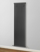 MHS Rads 2 Rails Fitzrovia Vertical Anthracite 3 Column Radiator 1800x530mm FAN-3-1800-11