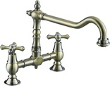 Bristan Colonial Bridge Bronze Sink Mixer K BRSNK ABRZ