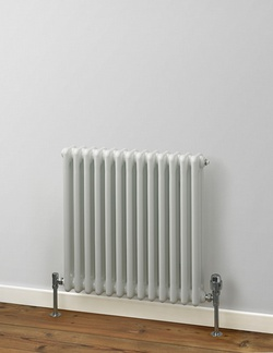 MHS Rads 2 Rails Fitzrovia Horizontal White 4 Column Radiator 600x1220mm FWH-4-0600-26