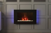 BeModern Azonto 2kw Wall Mounted Electric Fire (Black Glass) 144050BK