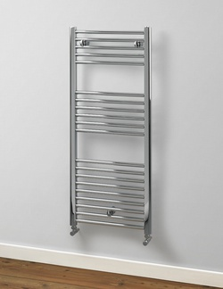 MHS Rads 2 Rails Aldgate 1160x500mm Chrome Towel Rail ALCH-H-120-50