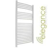 Abacus Direct Elegance Radius Towel Warmer 1120 x 480 White ELR112048WH