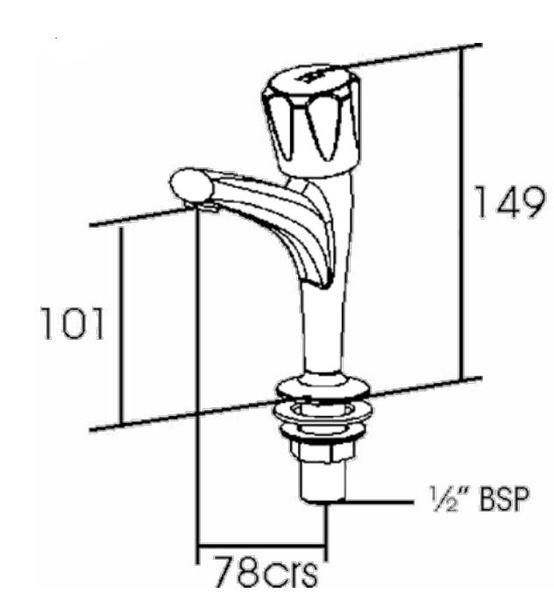 performa polo p502 high neck kitchen taps  pair  435919