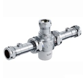 Bristan 22mm TMV3 Thermostatic Mixing Valve With Isolation MT753CP-ISO