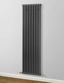 MHS Rads 2 Rails Fitzrovia Vertical Anthracite 2 Column Radiator 1800x530mm FAN-2-1800-11