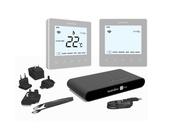 Heatmiser NeoKit 2 Heating & Hot Water Smart Thermostat - Platinum Silver