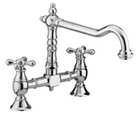 Bristan Colonial Bridge Sink Mixer Chrome K BRSNK C