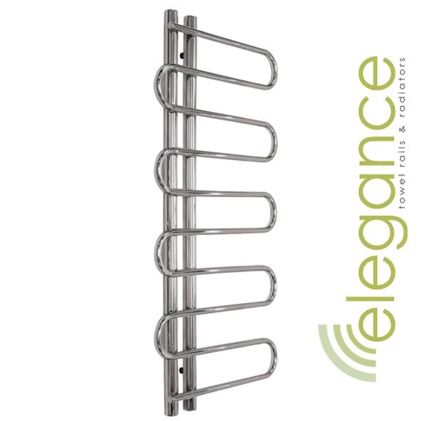 Elegance Towel Warmers: Abacus Direct Elegance Lazo Towel Warmer 1400 X 650 Chrome