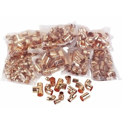 End-Feed Copper Fittings Pack (275 Fittings)