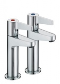 Bristan Design Utility Lever High Neck Pillar Taps DUL HNK C