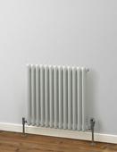 MHS Rads 2 Rails Fitzrovia Horizontal White 3 Column Radiator 600x622mm FWH-3-0600-13