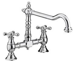 Bristan Colonial Bridge Sink Mixer Chrome K BRSNK C