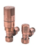 MHS Finchley Angled TRV 15mm Antique Copper VLVFIN-AACTRV