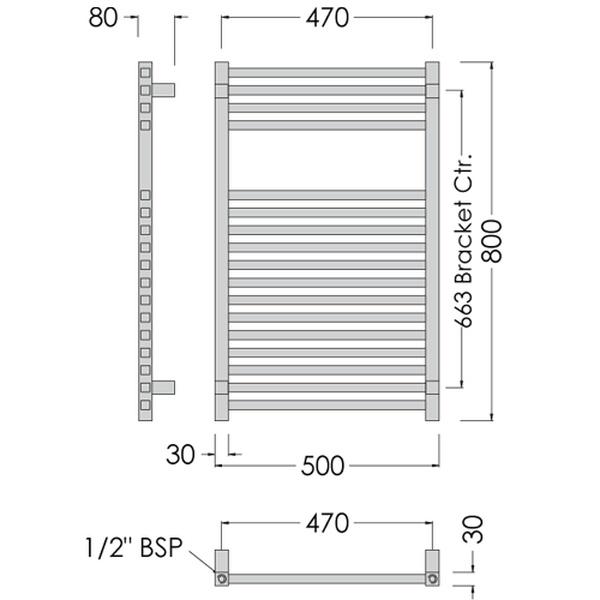 Elegance Towel Warmers: Abacus Direct Elegance Quadris Towel Warmer 1600 X 500 Chrome