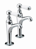 Bristan Renaissance High Neck Pillar Taps RS HNK C