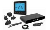 Heatmiser NeoKit-E Smart Electric Floor Thermostat - Sapphire Black