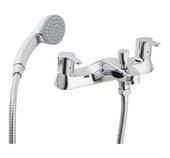 Francis Pegler Araya Deck Mounted Bath Shower Mixer with Shower Kit 4S1204