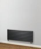 MHS Rads 2 Rails Finsbury Double Panel Horizontal White Radiator 480x1200mm FIHDWH-48-120