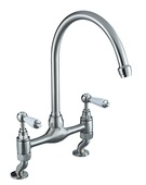 Bristan Renaissance Brushed Nickel Bridge Sink Mixer RS DSM BN