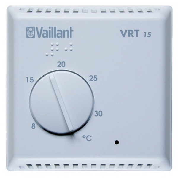 vaillant vrt15 230v basic room thermostat 306777. Black Bedroom Furniture Sets. Home Design Ideas