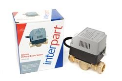 Interpart 22mm 2 Port Motorised Zone Valve Assy (INP0108)