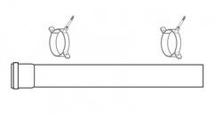 Baxi Plume Disp Kit 1m Extension & Brackets White 720643401