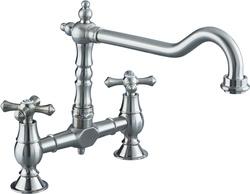 Bristan Colonial Bridge Brushed Nickel Sink Mixer K BRSNK BN