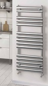 Rads 2 Rails Oval 1200x500 Dual Fuel Brushed Towel Rail PAB-120-D-50